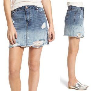 1822 denim jean skirt distressed EUC 31